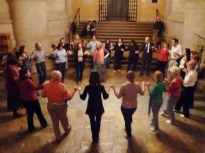 homeless circle dancing