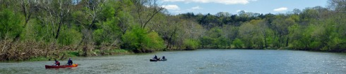 shenandoah canoing in spring
