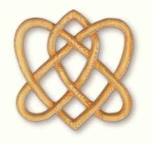 memorial stone love knot
