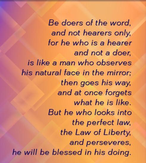 James 1 Verses 22-25