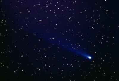 comet with stars