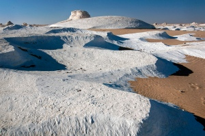 desert snow banks