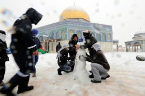 dome of rock snowman
