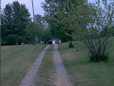 farm lane and garage