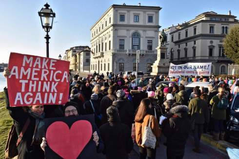 Women's anti Trump march in Florence
