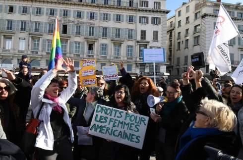 FRANCE-US-POLITICS-INAUGURATION-PROTEST