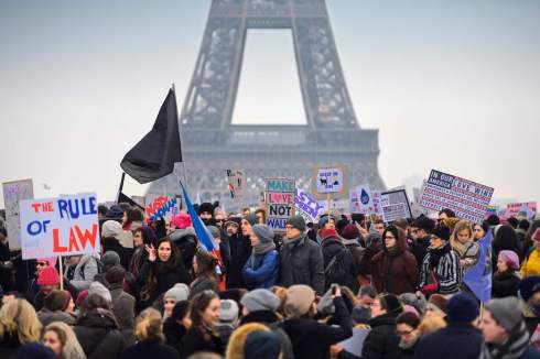 FRANCE-US-POLITICS-WOMEN-DEMO
